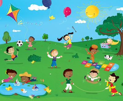 Kids Park Drawing Location Dundonald Park-512